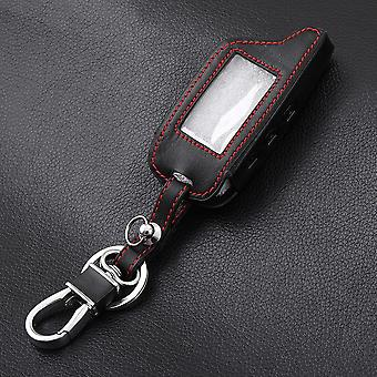 Knöpfe Leder Auto-Styling Key Cover Case, Zwei-Wege-Alarm-System Schlüsselanhänger
