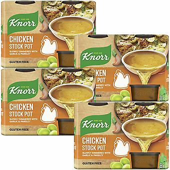 Knorr Stock Pot, Pollo, 4 Paquetes de 224g