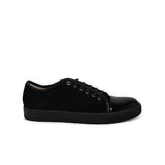 Lanvin Fmskdbb1vbal1010 Men's svarta läder sneakers