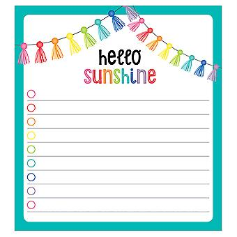 "Hello Sunshine Notepad, 5.75"" X 6.25"", 50 Sheets"