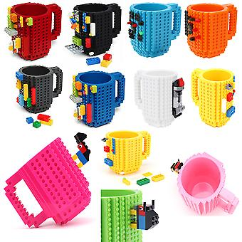 Coffee Cup Build-On Brick Mug Type Building Blocks DIY Block Puzzle Mug Building Blocks Design