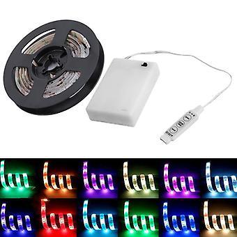 RGB LED Streifen leuchten mit BatterieBox wasserdicht Handwerk Hobby Licht 50-200CM