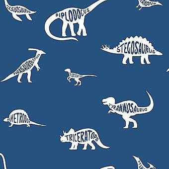 Dino Dictionary Blue Wallpaper