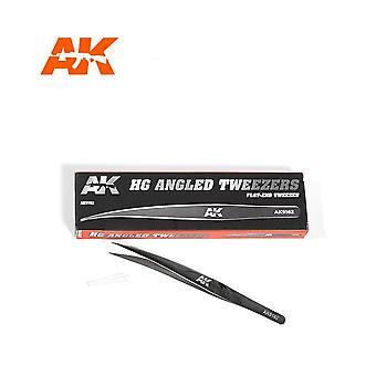 AK Interaktiivinen AK9162 HG kulma pinsetit 02 litteät päät
