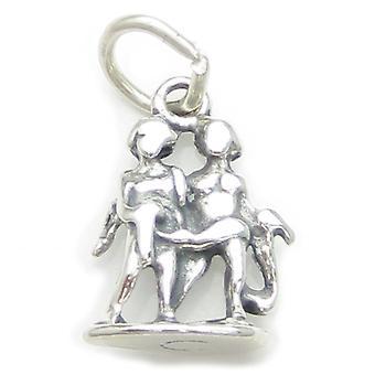 Gemini Twins Sterling Silver Charm .925 X 1 Zodiac Zodiacs Charms - 3711