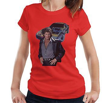 Knight Rider Michael Knight y KITT Mujeres's Camiseta
