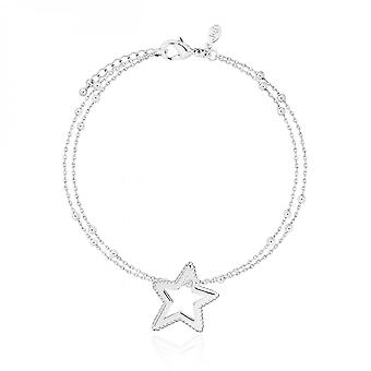 Joma Jewellery Aurora Silver Star 18cm + Pulseira de Extensor 3cm 3603