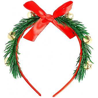 Tiara Christmas Ladies Onesize Polyester Green / Red / Gold