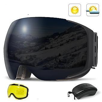 Uv400 הגנה נגד ערפל סנובורד סקי משקפיים אישה