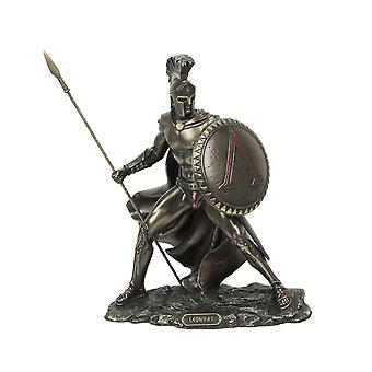 Greek King Leonidas Battle Warrior of Sparta Bronze Finished Tabletop Statue