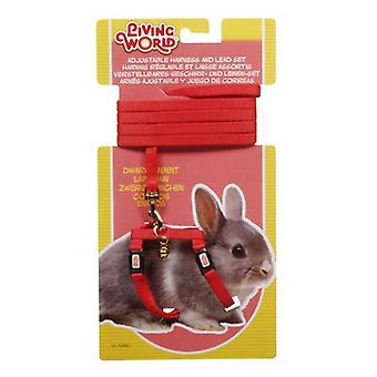 Living World L.W. HARNESS IN RED FOR DWARF RABBITS (Small pets , Leads & Harnesses)