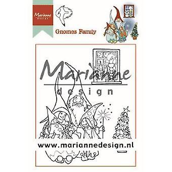 ماريان تصميم واضح الطوابع هيتي Gnomes الأسرة Ht1650 90x110 ملم