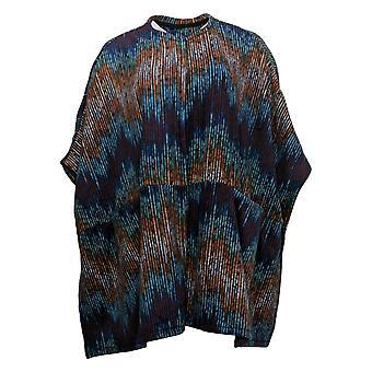 Cuddl Duds Women's Sweater 1 Fleecewear Stretch Open Front Wrap Blue A381797