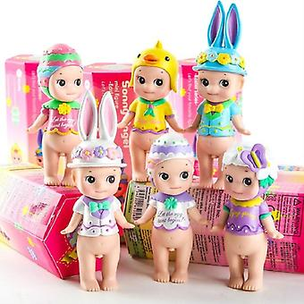 6pcs Of Mini Sonny Angel, Easter Series Cute Pvc Action Figure