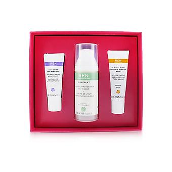 Ren Face Favourites Set: Glycol Latic Mask 15ml + Evercalm Day Cream 50ml + keep Young & Beautiful Beauty Shot 10ml 3pcs
