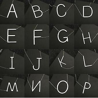 26 Letter Necklaces Pendants Alphabet 3 Color Stainless Steel Choker