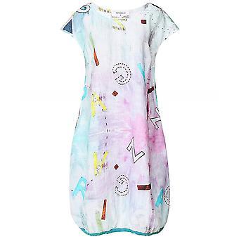 Grizas Alpha Linen Printed Dress