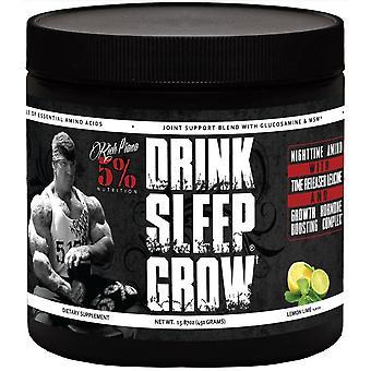 5% Nutrition Drink Sleep Grown Nocturnal Amino Acids lime lemon 450 gr