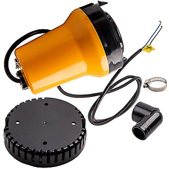 12V SUBMERSIBLE SOLAR PANEL WATER PUMP 50W 1110GAL/H CLEAR DIRTY POOL