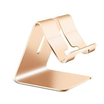 Universal Aluminum Alloy Phone Holder Desktop Mount Dock Non-slip Mobile Stand