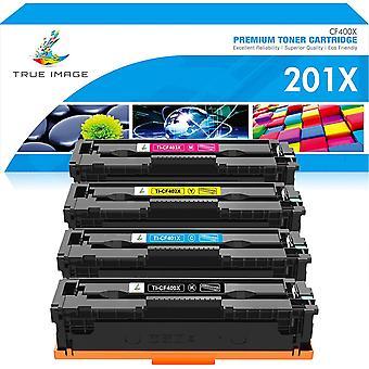 True Image Kompatibel Tonerpatrone Ersatz fr HP 201X 201A CF400A CF400X CF401X CF402X CF403X