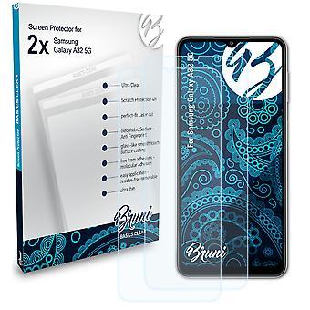 Bruni 2x Skjermbeskytter kompatibel med Samsung Galaxy A32 5G Beskyttende Film