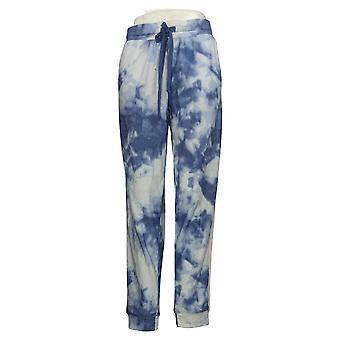 Pragtfulde kvinder's bukser hyggeligt strik fransk Terry sweatpants blå
