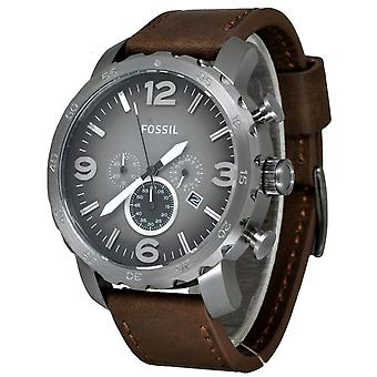 Fossil Analog Men with leather strap JR1424