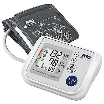 A&D UA767F Blodtrycksmätare för överarm IBH-detektering och 60 läsminne