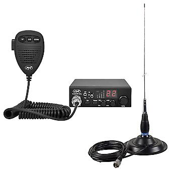 CB PNI Radio Station CBI Escort HP 8000L ASQ + CB PNI ML145 Antenna with Magnet 145 / PL