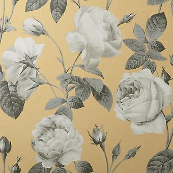 Eden Floral Mustard Wallpaper