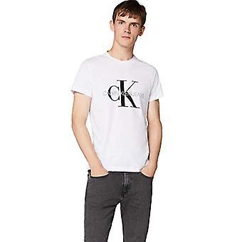 Calvin Klein Iconic Monogram SS Slim Tee T-shirt, White (Bright White Yaf), Large Man