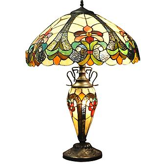 Yellow Double Tiffany Lamp 68Cm
