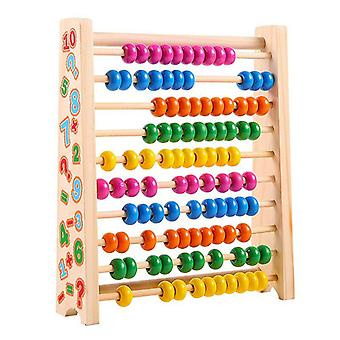 Early Education Enlightenment Wooden Colorful Digital Computing Rack Educational Toys Wooden Children Ten-gear Arithmetic Abacus