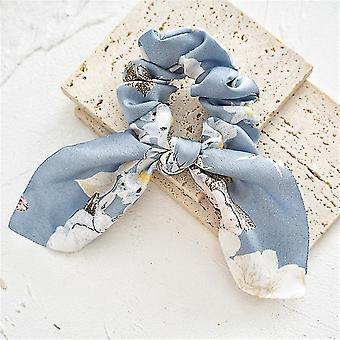 Accessori per capelli bow, 5 pezzi di chiffon satinato accessori per capelli sciarpa a fiocco a nastro