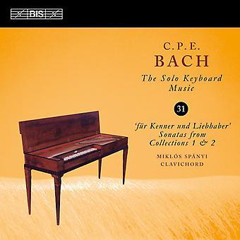 Bach, C.P.E / Spanyi - C.P.E. Bach: Solo tangentbord musik 31 [CD] USA import