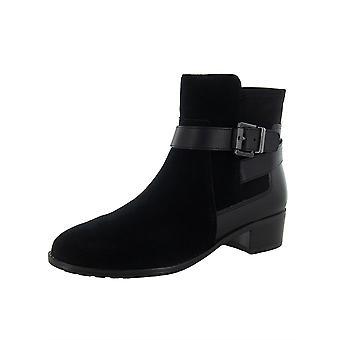 Isaac Mizrahi Live Womens Saran Suede Ankle Boots