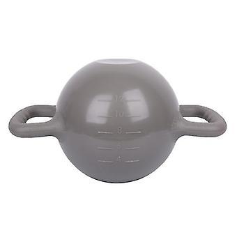 رمادي kettlebell اليوغا معدات اللياقة البدنية حقن المياه لزيادة الوزنالسهل لحمل وسريع لاستخدام x2305