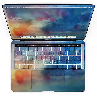 Textura de aquarela azul corante blushed 42 - Macbook Pro com toque
