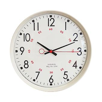 """ויליאם WIDDOP 30 ס""""מ מתכת מקרה מטבח שעון - קרם"""