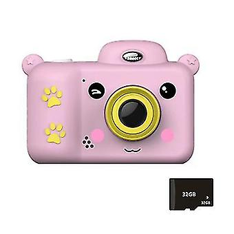 Dětský digitální fotoaparát Kids Toys 2,4 ch ch 000 HD obrazovka s 32GB SD kartou (růžová)