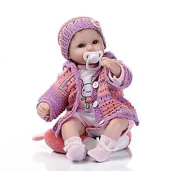 Zachte siliconen herboren baby pop speelgoed levensechte 40cm vinyl herboren baby's spelen huis bedtijd speelgoed verjaardagscadeau voor meisje