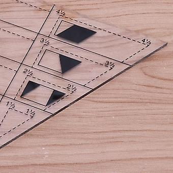 Shape Measure Trapezoid Quilts Plastic Ruler, Diy Patchwork Sewing Tools