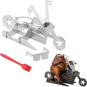 Motorcycle Beer Can Chicken Roaster Holder Portable For Outdoor Grill(Motorcycle)