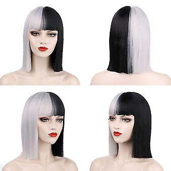 Synthetic wigs  short bob wig with bangs cosplay wigs red black pink wig short straight wigs
