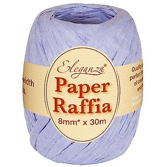Lavendel 8mm x 30m papir Raffia båndrull - Resirkulerbar og biologisk nedbrytbar