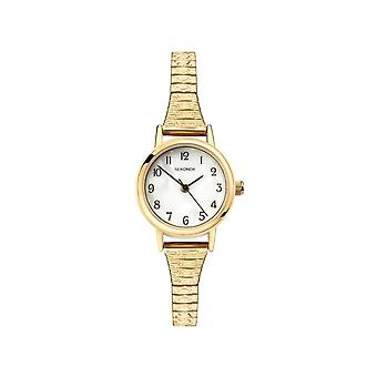 Sekonda 4677 White And Gold Ladies Expander Watch