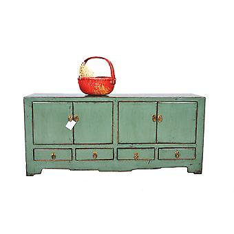 Fin Asianliving Antikk Kinesisk TV Cabinet Mint Glanset W138xD39xH66cm