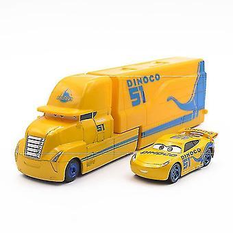 2ks / lot Cruz Ramirez Cars Trailer Závodní auto Model