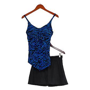 DreamShaper by Miraclesuit Swimsuit Lena Tankini Black Swim Skirt A375822